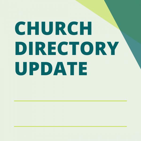 Church Directory Update