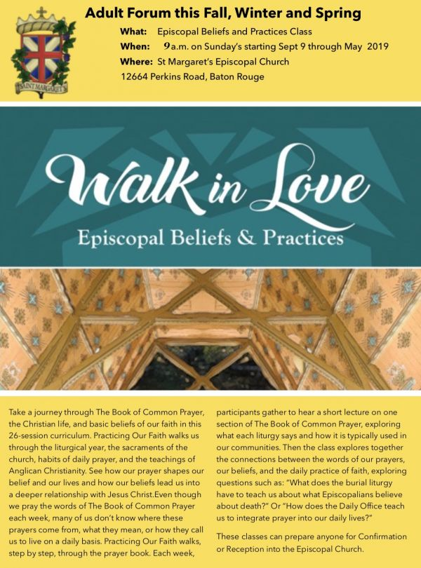 Walk in Love - Episcopal Beliefs & Practices