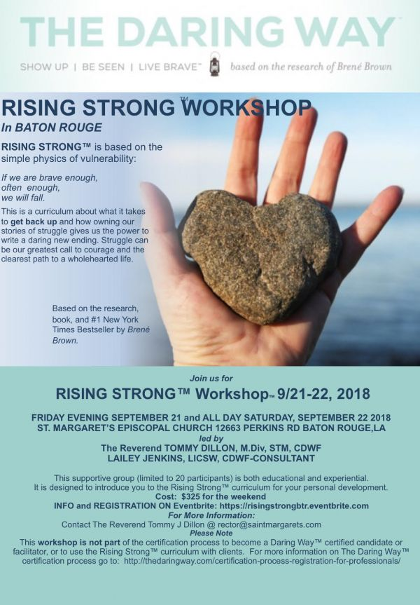 Rising Strong Workshop Baton Rouge
